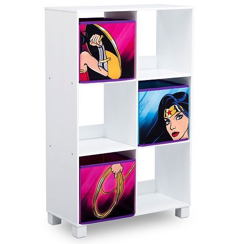 Delta Children DC Comics Wonder Woman 6-Cubby Deluxe Storage Unit