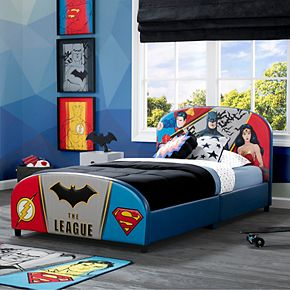 Delta Children Justice League Upholstered Twin Bed
