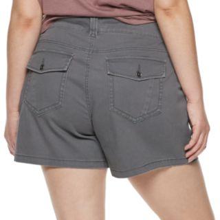 Juniors' Plus Size Unionbay Alix Stretch Twill Utility Shorts