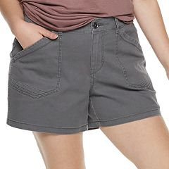 Juniors' Plus Size Unionbay Alix Stretch Twill Utility Shorts