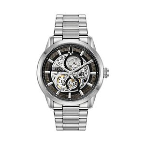 Bulova Men's Stainless Steel Automatic Skeleton Watch - 96A208