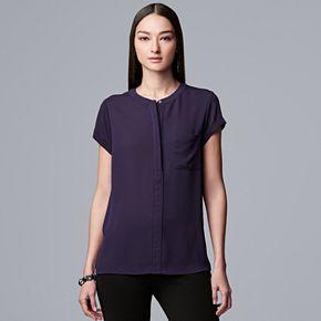 Women's Simply Vera Vera Wang Essential Textured Popover Top