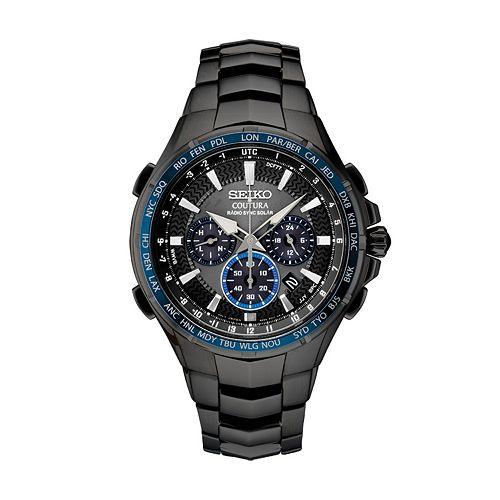 Seiko Men's Coutura Stainless Steel Radio Sync Solar Watch - SSG021