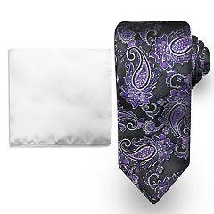 Men's Steve Harvey Tie and Pocket Square Set
