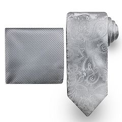 Men's Steve Harvey Tie and Pocket Square Set