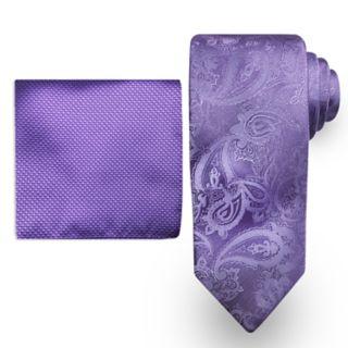 Big & Tall Steve Harvey Extra Long Tie & Pocket Square Set