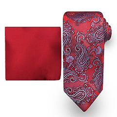 Big & Tall Steve Harvey Extra Long Tie & Pocket Square Set