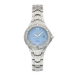 Seiko Women's Solar Diamond Accent Watch - SUT371