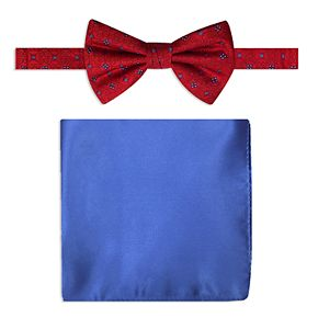 Men's Steve Harvey Bow Tie and Pocket Square Set