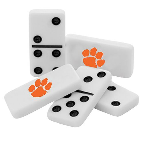 Clemson Tigers Double-Six Collectible Dominoes Set