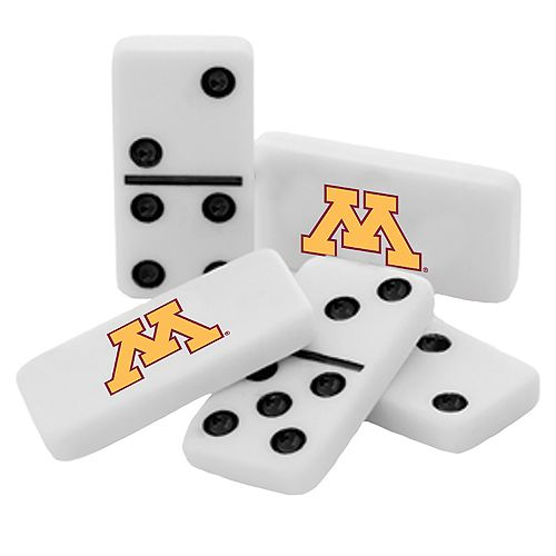 Minnesota Golden Gophers Double-Six Collectible Dominoes Set