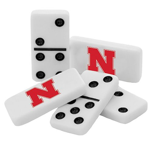 Nebraska Cornhuskers Double-Six Collectible Dominoes Set