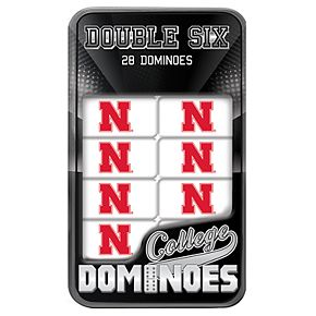 Nebraska Cornhuskers Double-Six Collectible Dominoes Set