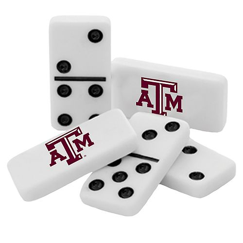 Texas A&M Aggies Double-Six Collectible Dominoes Set