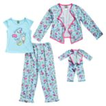 "Girls 4-14 Dollie & Me ""Slumber Party"" Jacket, Top & Bottoms Pajama Set"