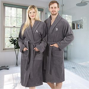 Linum Home Textiles Turkish Cotton Personalized Unisex Terry Cloth Bathrobe