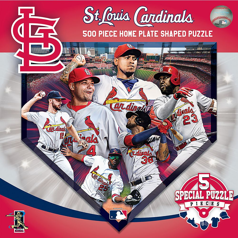 St. Louis Cardinals MLB Home Plate Shaped Puzzle