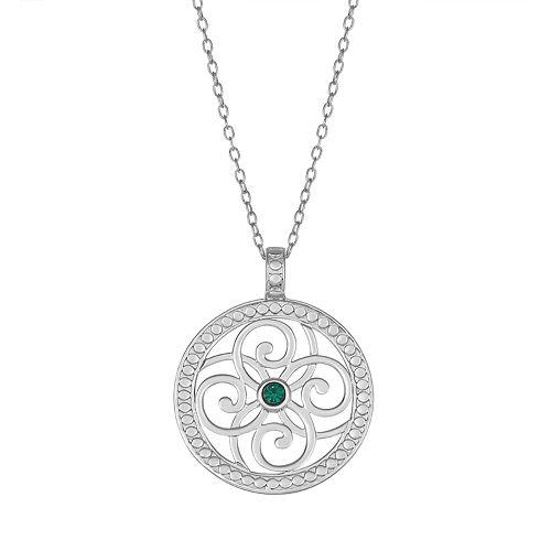 Sisterhood Sterling Silver Open Work Circle Pendant Necklace