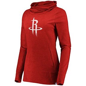 Women's Majestic Houston Rockets Cocoon Neck Pullover Top