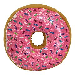 Brentwood Originals Flip Sequin Donut Throw Pillow