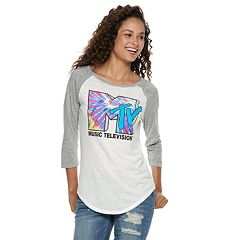 Juniors' Retro 'MTV' Raglan Tee
