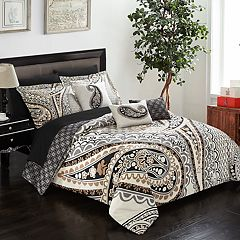 Del Mar Twin 8-piece Reversible Bedding Set