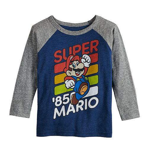 """Toddler Boy Jumping Beans® Super Mario Bros. """"Super '85 Mario"""" Raglan Tee"""