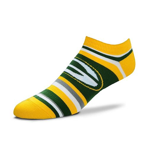 Women's For Bare Feet Green Bay Packers No-Show Socks