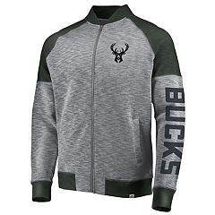 Men's Majestic Milwaukee Bucks Hyperstria Full-Zip Fleece