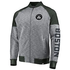 Men's Majestic Boston Celtics Hyperstria Full-Zip Fleece
