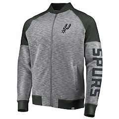 Men's Majestic San Antonio Spurs Hyperstria Full-Zip Fleece