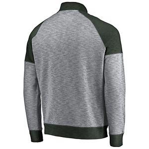 Men's Majestic San Antonio Spurs Hyperstria Full-Zip Fleece