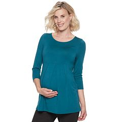 Maternity a:glow Pleated Empire Top
