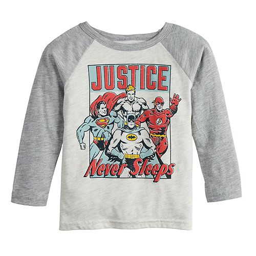 Toddler Boy Jumping Beans® Justice League Raglan Graphic Tee