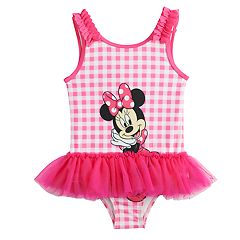 Disney's Minnie Mouse Toddler Girl Tutu One-Piece Swimsuit by Dreamwave