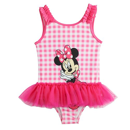 4c4c8dd687 Disney's Minnie Mouse Toddler Girl Tutu One-Piece Swimsuit by ...