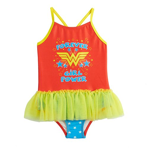 000f7adafdfba DC Comics Wonder Woman Toddler Girl Tutu One-Piece Swimsuit by ...