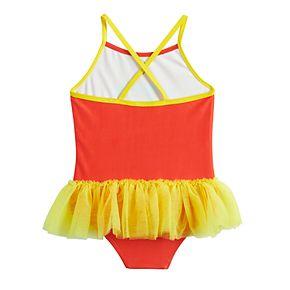 DC Comics Wonder Woman Toddler Girl Tutu One-Piece Swimsuit by Dreamwave