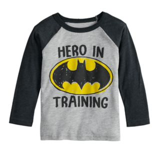 "Toddler Boy Jumping Beans® DC Comics Batman ""Hero In Training"" Raglan Graphic Tee"