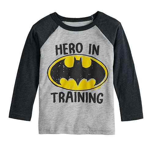 """Toddler Boy Jumping Beans® DC Comics Batman """"Hero In Training"""" Raglan Graphic Tee"""
