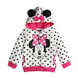 Disney's Minnie Mouse Toddler Girl Polka-Dot Hoodie