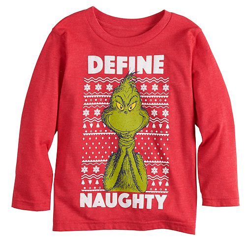 """Toddler Boy Jumping Beans® Dr. Seuss The Grinch """"Define Naughty"""" Graphic Tee"""