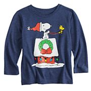7f44b9f860 Toddler Boy Jumping Beans® Peanuts Snoopy Snowy Wreath Graphic Tee