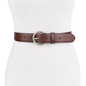 Women's Exact Fit Casual Stretch Belt with Round Buckle