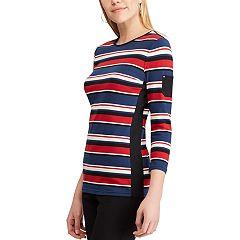 Women's Chaps Striped Pocket Top