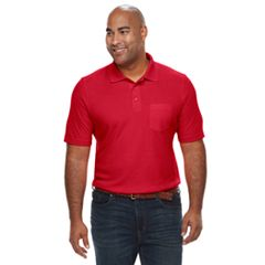 Big & Tall Croft & Barrow® Classic-Fit Extra-Soft Interlock Pocket Polo