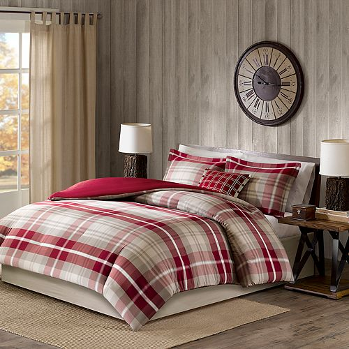 Woolrich Sheridan Yarn Dyed Cotton 4-piece Duvet Cover Set