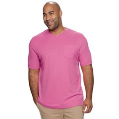 Big & Tall Croft & Barrow® Classic-Fit Extra Soft Interlock Pocket V-Neck Tee
