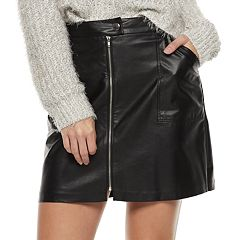 Juniors' Candie's® Zip-Front Patch-Pocket Skirt