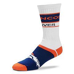 Men's For Bare Feet Denver Broncos Fashion Play Crew Socks